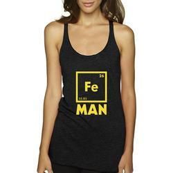 True Way 1261 - Women's Tank-Top Iron Man Fe 26 Periodic Table Science Chemistry 2XL Black
