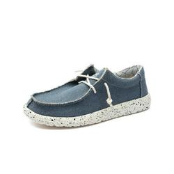 UKAP Men's Slip-On Loafer Casual Shoes Canvas Sneakers Travel Walking Shoes