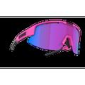Bliz Matrix Sport Sunglasses Nano Optics Nordic Light, Neon Pink Frame, Begonia with Blue Multi Contrast Lens