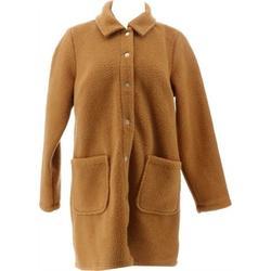 Denim& Co Sherpa Bonded Fleece Snap Jacket Women's A372275