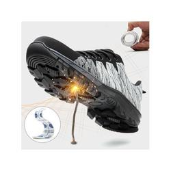Avamo Unisex Steel Toe Safety Shoes Anti Puncture Breathable Work Boots Casual Shoes