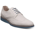 Stacy Adams Walking Shoes Luxley Wingtip Suede Comfortable Chalk 25448-124
