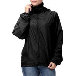 LELINTA Women Hoodie Jacket Lightweight Packable Rain Jacket Windbreaker Zipper Hooded Coats Slim Jacket Spring Long Sleeve Running Sport