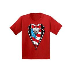 Awkward Styles American Tuxedo Toddler Shirt 4th July Party Patriotic Kids T shirt 4th of July Tshirt for Boys and Girls USA Kids T-shirt 4th of July Shirts for Boys 4th of July Shirts for Girls