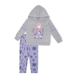 Disney Frozen 2 Anna Toddler Girl Athletic Striped Hoodie & Leggings, 2pc Outfit Set