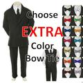 6pc Color Bow Tie + New Baby Toddler Boy Black Wedding Suit Tuxedo S-20 New Teen