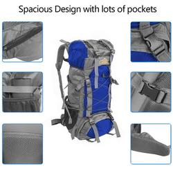 Topcobe Military Tactical Backpack, Hiking Backpack, Waterproof Rucksack Pack, 60L Tactical Backpacks Hiking Daypacks for Camping Hiking Military Traveling Motorcycle, Blue