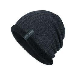 Men Unisex Wool Knitted Winter Slouch Beanie Hat Cap Skateboard Ski Fleece Lined