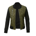 Autumn Winter Women Bomber Jacket Ladies Assorted color Ziper Jackets Casual Chic Quilted Coat Tops Plus Size