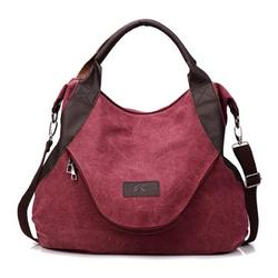 Women's Canvas Handbag Vintage Large Pocket Shoulder Bag Hobo Daily Casual Purse Large Tote Top Handle Shopper Handbag