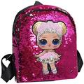 wsevypo Mini Sequins Backpack with Cute Cat Ears Sparkly Rainbow Flip Sequins Backpack for Women Girls