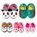 ZDMATHE Winter Kids Cute Indoor Slippers Baby Winter Boys Girls Cartoon Animal Print Home Non-Slip Soft-Soled Cute Warming Shoe