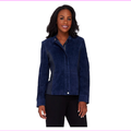 Isaac Mizrahi Live! Suede Jacket w/ Lamb Leather Quilted Details, Size 8, $194