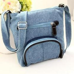 Denim shoulder bag satchel bag cross body bag women fashion purse bag