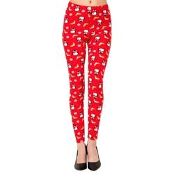 LAVRA Women's Christmas Holiday Leggings Festive Tights Xmas Soft Plus Size Brushed Pants
