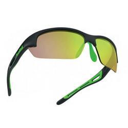 Bolt S Sunglasses - Matte White Green Rubber Frame/Brown Emerald Lens - 12418