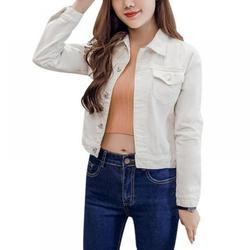ZDMATHE Boyfriend Jean Jacket Women Denim Jackets Vintage Long Sleeve Jacket Casual Slim Coat Candy Color Bomber Jacket