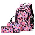 3PCS School Bags for Girls & Boys Primary & Middle School Students School Backpack, Lightweight Travel Bag with Lunch Bag Pencil Case