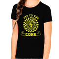 Graphic Tees for GIRLS YOUTH - Cool Shirts for KIDS - Cool GIRLS Vintage Casual Shirts - Fit To The Core