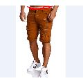 New Cool Men's Skinny Runway Straight Knee Denim Pants Destroyed Ripped Knee Length Jeans