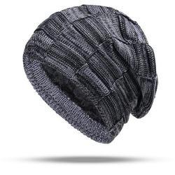 Mens Womens Winter Warm Beanie Hats Knitted Fleece Slouch Neck Warmer Ski Caps