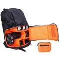 F-350AW Waterproof Travel Backpack Bag Case for DSLR SLR Cameras & Accessories Storage Black