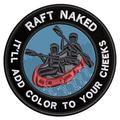 Applique Outdoors Rafting Naked Theme Hook Backing Decorative Patch Funny Saying Biker Emblem
