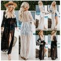 New Women Lady Lace Crochet Bikini Cover Up Swimwear Kaftan Bathing Suit Beach Dress