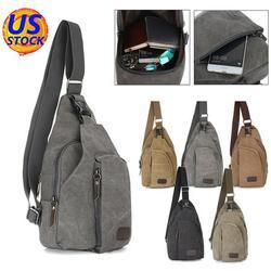 Small Canvas Sling Chest Backpack Vintage Tactical Bag for Men Women Shoulder Bags Crossbody Outdoor Sport Hiking Bag Messenger Bag Satchel bag Trekking