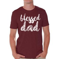 Awkward Styles Blessed Daddy Shirt Cute Gifts for the Best Dad Blessed Dad Best Father`s Day Gift Best Father T Shirt Father`s Day Men Shirt Tshirt for Dad Father`s Day Gifts Ideas