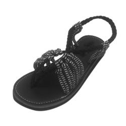 Clearance! Fashion Flat Shoes Women Shoes Open Toe Ankle Strap Knot Sandals Slipper Summer Beach Vacation Seaside Casual Shoes