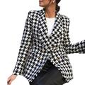 GMBEAUTY 2020 Fashion Women Tweed Jackets Autumn Vintage Thick Plaid Coats Girls Chic Coats