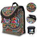 TSV Embroidered Canvas Backpack, Vintage Boho Backpack Purse Canvas Backpack Purse, Travel Shoulder Bag for Women Girls, 29*23*13 cm, 40-80cm Adjustable Strap, Fashionable, Ethnic