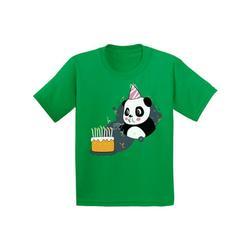 Awkward Styles Panda Birthday Youth Shirt Kids Themed Party Birthday Gifts for Kids Cute Panda with a Birthday Cake Tshirt Funny Birthday Shirts for Boys Funny Birthday Shirts for Girls