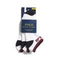 Polo Polo Ralph Lauren Mens No show Sport socks White Navy 3 Pairs size 10-13 Mens No show Sport socks White Navy 3 Pairs size 10-13