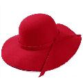 Fashion Wide Brim Sun Hat Bowler Hats Retro Ladies Wool Floppy Felt Fedora Hat