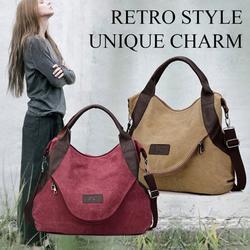 Women Handbag Large Pocket Fashion Casual Women Girls Single Shoulder Cross body Handbags Canvas Bags With Zipper