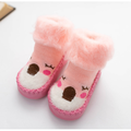Seyurigaoka Toddlers Boys Girls Animal Sock Shoes, Moccasin Shoe for Toddler Non-Skid Cotton Sock Slippers