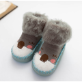 ZIYIXIN Toddlers Boys Girls Animal Sock Shoes, Moccasin Shoe for Toddler Non-Skid Cotton Sock Slippers