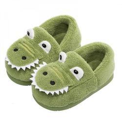 ZDMATHE Children's Cotton Shoes Dinosaur Baby Slippers Children Casual Shoes Crocodile 1-3 Winter Boys Girls