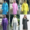 Adult Unisex EVA Raincoat Waterproof Jacket Hooded Rain Coat Poncho Rainwear