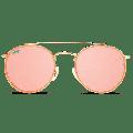 WearMe Pro - Round Double Bridge Polarized Modern Retro Sunglasses
