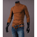 Binpure Fashion Mens Thermal Cotton Turtle Roll Neck Skivvy Turtleneck Sweater Stretch Shirt