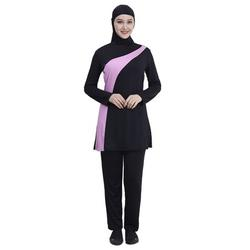 DAILY GOLF TOOLS Female Muslim Swimsuit Two-piece Long Sleeve Swimwear Bathing Suit with Cap;Female Muslim Swimsuit Two-piece Long Sleeve Swimwear Bathing Suit with Cap