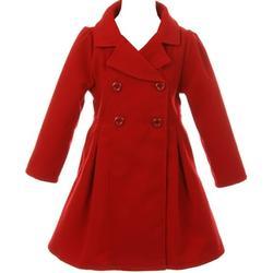 Big Girl Kids Flower Girls Winter Clothes Long Coat Outerwear USA Red 12 JKS 2049 BNY Corner