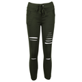 Women High Waist Jeans Denim Pants Lady Ripped Stretchy Skinny Jeggings Trousers