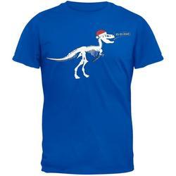 T-Rex Santa Blue T-Shirt - Large
