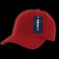 Decky Classic Plain Fitted Pre Curved Bill Baseball Hats Caps Men Women Cardinal