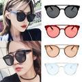 Summer Round Sunglasses Anti-blue Light Radiation and UV protection UV400 Plastic Frame Double Beam Face-lift