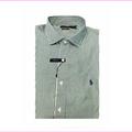 Polo Ralph Lauren Men's Stretch Poplin Stripe Shirt Green / White XL
